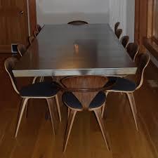 hand crafted ketcham zinc top dining table by scott stewart regarding design 12