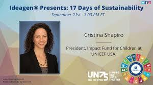 Cristina Shapiro, President, Impact Fund for Children UNICEF USA ...