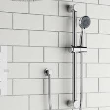 drench round shower rail kit