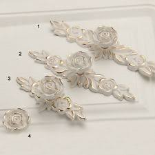 gold drawer pulls. ivory gold rose flower shabby chic dresser drawer pulls handles knobs furniture c