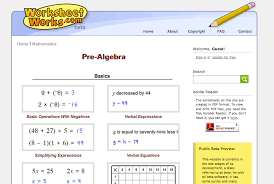 worksheet works com pre algebra worksheets