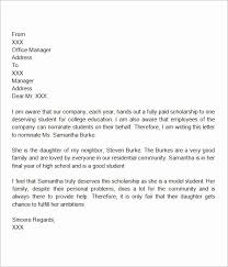 College Recommendation Letter From Family Friend Sample 30 Scholarship Recommendation Letter From Friend
