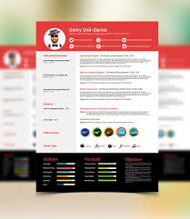 Simple Resume Psd Template Graphiceat