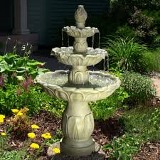 rock waterfall fountains outdoor large outdoor water fountains patio water fountains solar rock fountain
