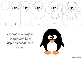 Coloriage Comment Dessiner Un Pingouin Dessin Dessin De Pingu