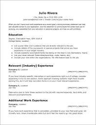 Recent College Grad Resumes Resume Templates Jobscan