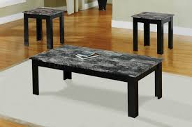 black faux marble pc coffee table set base in marble top special