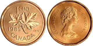 Coins And Canada 1 Cent 1985 Canadian Coins Price Guide