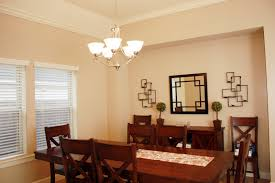 Dining Room : Excellent White Chandelier Lighting For Dining Room With Long  Wooden Dining Table And Cream Wall Paint Idea Choose Appropriate Lighting  for ...