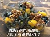 blueberry  mango and ginger parfait