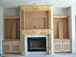 wood mantel for fireplace a painted white brick fireplace wood mantel fireplace surrounds