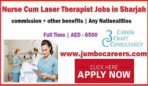 Nurse Cum Laser Therapist Jobs in Sharjah with Salary AED 6500
