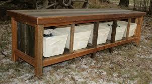Image of: Rustic Entryway Bench