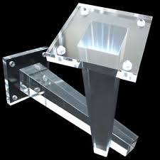 Acrylic furniture legs Bed 4x Glass Sofa Couch Footstool Bench Furniture Legs Replace Feet Square Tapered Lewa Childrens Home Unbranded Acrylic Furniture Sofa Legs Ebay