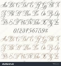 Stock Vektor Handmade Vector Calligraphy Tattoo Alphabet Numbers