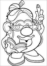 mr and mrs potato head coloring pages. Mr Potato Head For And Mrs Coloring Pages