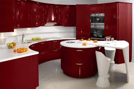 Red White Kitchen Interior Design Ultra Modern Interior Kitchen Design Modern