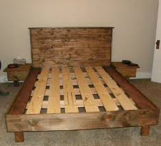 platform bed no box spring. Wonderful Box A Queensize Bed Platform No Box Spring Necessary Built From 2x4s 1x6u0027s  And 1x6 Tongue Groove White Pine For The Headboard  Walnut Stain For Platform Bed No Box Spring U