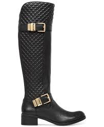 Vince camuto Faris Quilted Tall Boots in Black   Lyst & Gallery Adamdwight.com