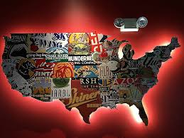 a pretty cool beer map the united states with each state us beer map vintage us map canvas license plate  on license plate wall art all 50 states with wall art awesome us map wall art hi res wallpaper photos pottery