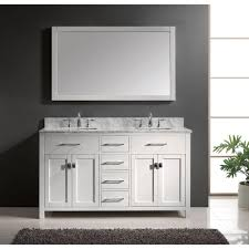 Double Bathroom Sinks Caroline 60 Inch Double Sink Bathroom Vanity In White By Virtu Usa