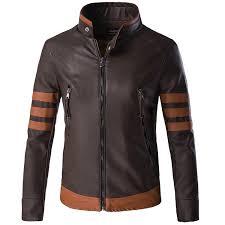 x men origins wolverine brown faux leather jacket