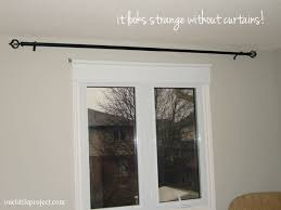 ... curtain rod without curtains