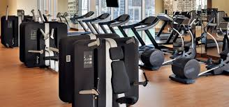 the fitness centre at address dubai marina image description