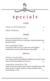 specials menu east cafe specials menu daily special menus