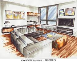 interior design living room drawings. Modren Living Living Room It Is Very Modern Interior Design For Younger Familie Its  Sketch Designed With Intended Interior Design Room Drawings I