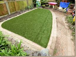 lawn laid and trimmed