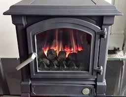Freestanding Gas Stove Efel Harmony 5 48kw Freestanding Natural Gas Stove Black In