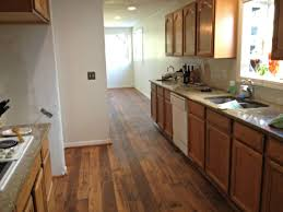 kitchen flooring ideas with honey oak cabinets