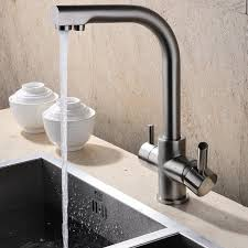 crafted for an exquisite and high arc spout this brewst kitchen sink mixer tap can swivel 360 degrees