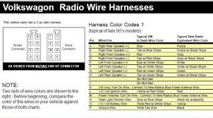 vw stereo wiring diagram vw car wiring diagram, radio wiring 2001 jetta speaker wire colors at 2000 Jetta Radio Wiring Diagram