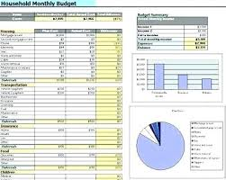 Budget Samples Household Excel Home Budget Template Household Budget Worksheet Excel