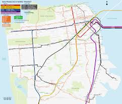 muni  bart  caltrain map   sanfrancisco