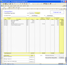 Excel Template Expenses | calendar monthly printable