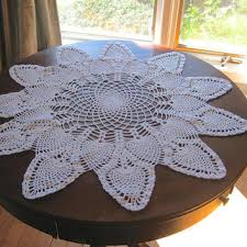 large round doily crocheted doily 26 round centerpiece white table topper