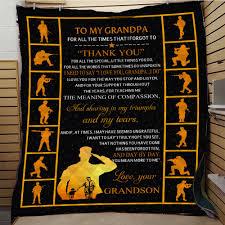 <b>SOFTBATFY</b> To My Grandpa Quilt For Bed Soft Warm Blanket ...