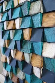 wood wall art large artwork blue wood