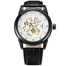 Winner Royal Diamond Design Black White Men ... - Amazon.com