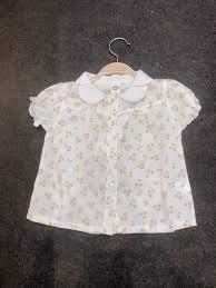 Thời trang xuất khẩu và hàng cao cấp cho bé - Sơ mi hoa nhí bé gái mặc rất  xinh, chất mát các mẹ nha 👌🏻