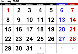 calendar january 2018 template january 2018 printable calendar printable calendar templates