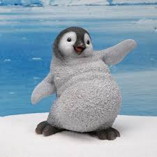 baby penguin. Interesting Penguin Balancing Baby Penguin Statue With E