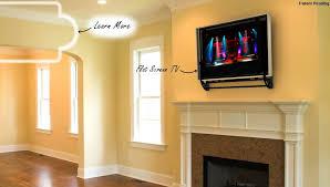 degree flip around mount mounted above fireplace tilt gmm