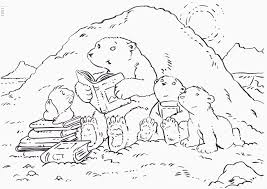 Small Picture Printable Polar Bear Coloring Pages For Kids The Little Pages adult