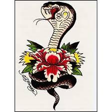 Ed Hardy Flower Design Ed Hardy Cobra Temporarytattoos Ed Hardy Tattoos Vintage