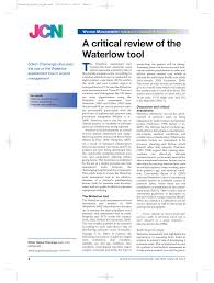 Pdf A Critical Review Of The Waterlow Tool