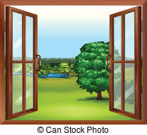 window clipart. Fine Clipart An Open Wooden Window  Illustration Of An Wooden Throughout Window Clipart